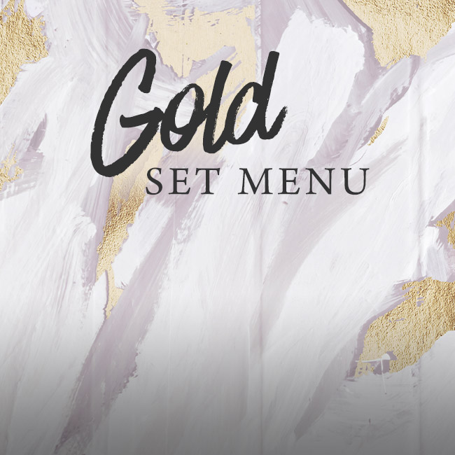 Gold set menu at The Wicked Lady
